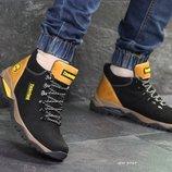 Ботинки зимние Timberland black 6969