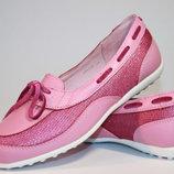 Кожаные туфельки для девочки р.35,37