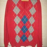 Свитер, джемпер пуловер, шерсть , Англия,пог-63