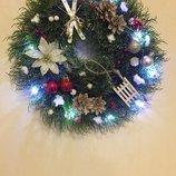 Светящийся Рождественский или Новогодний веночек