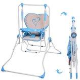 Детская напольная качели стульчик NA 05-4, голубая