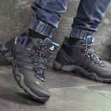 Зимние мужские кроссовки Adidas Terrex 465 dark blue