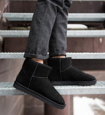 Супер качество по супер цене Угги UGG натуральные замшевые мужские низкие короткие ботинки черные