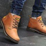 Зимние мужские кожаные ботинки Timberland ginger