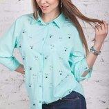 Модные и стильные женские блузки, 2 модельки, 8 расцветок, размер 42-58. Качество просто чудесное