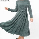 Изумительное трикотажное платье миди длины 50-54р