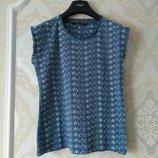 Размер 10,10-12 Модная фирменная выбитая хлопковая футболка с кружевом