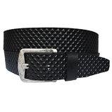 VIKING Батальный Кожаный мужской ремень черный пояс для джинсов великан большой размер батал