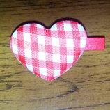 Декор украшение сердечко сердце на прищепке.