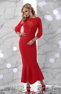 deb79a97de9 Платье Бони Д р красное платье в пол с шифоновыми рукавами  520 грн ...