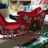 Декор подарок на Новый Год Сани под шампанское и не только подарок
