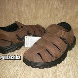 Кожаные сандалии закрытого типа коричневые