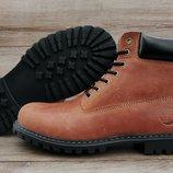 Мужские ботинки Timberland . Натуральный мех и кожа