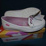 Кожаные туфли, балетки, мокасины для девочки р.32,35