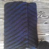 шарф ручной работы из натуральной шерсти