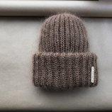 В наличии вязаная шапка вязанная шапка Пушистая такори мохер мохеровая пудра пудровая зефирка