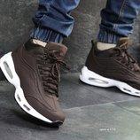 Nike 95 кроссовки мужские зимние коричневые 6973