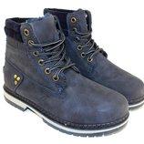 Ботинки зимние комфортные синие