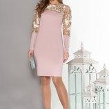 Нежное нарядное платье с вышивкой 44-50р