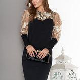 Изящное нарядное платье с вышивкой 44-50р