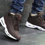 Зимние мужские кроссовки Nike 95 brown
