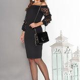 Элегантное Трикотажное платье с вырезом анжелика 44-50р