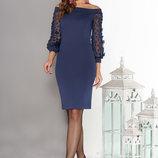 Привлекательное Трикотажное платье с вырезом анжелика 44-50р