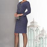 Нарядное Платье с ложным запахом 44-50р