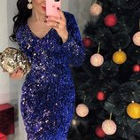 Платье вечернее с пайеткой, код 0335