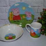 Набор детской посуды Свинка Пеппа