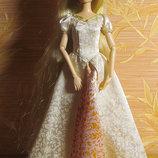 Rapunzel wedding Рапунцель свадебная в платье с узорами