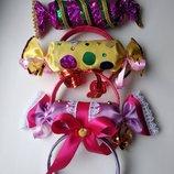 Обруч конфетка, цукерка, игрушка,хлопушка,бантик,кукла