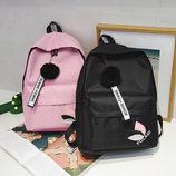 Модный тканевый рюкзак с помпоном В Наличии