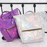 Голографический рюкзак-сумка трансформер В Наличии