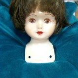 Голова от фарфоровой куклы,парик ,Германия.