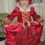 карнавальное платье принцессы, на 3-4 лет
