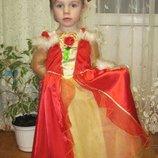 карнавальное платье принцессы Disney, на 3-4 лет