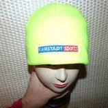 Спортивная фирменная яркая флисовая шапочка шапка karstadt.м-л-хл .унисекс .