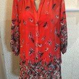 Шикарная дорогая удлиненная блуза в комплекте с майкой