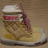 Эффектные комбинированные золотистые зимние ботинки Superdry 37 р. 23,7 см.