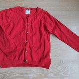 Кофточка девочке 4-5 лет 110 см Zara Зара оригинал на пуговицах красная