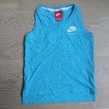 Майка спортивная девочке 5-6 лет 110-116 см Nike Найк оригинал фирменная голубая лето