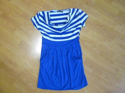 Платье летнее синяя полоска
