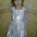 Карнавальное платье Снежинка на 6 лет.