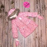 Демисезонная куртка еврозима Nutmeg для девочки 3-4 года. 98-104 см