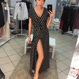 Длинное платье в пол Горох Dress Code