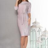 Очаровательное Праздничное платье полуоблегающего силуэта 44-54р