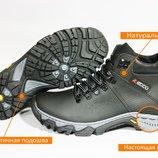 Мужские зимние ботинки ECCO прошиты прокл, Натуральная кожаная обувь