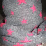 Зимняя шапка со снудом теплые