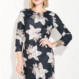 Платье полубатал с цветочным принтом 48 50 52